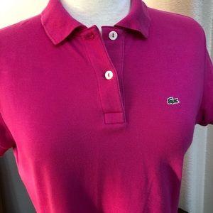 Women's Lacoste Polo Shirt Fuchsia Color